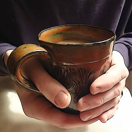 Bob Hands with Mug